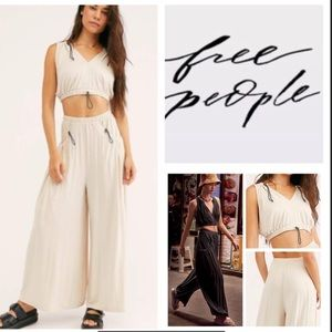 NEW Free People Move With Me Crop Top & Pants Set